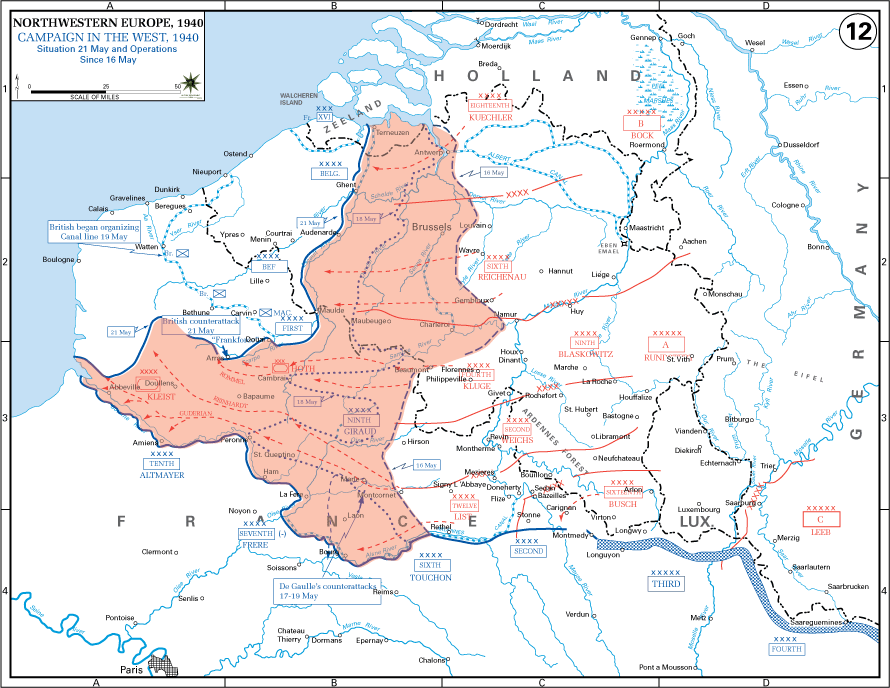 Dunkirk The Allied Collapse map
